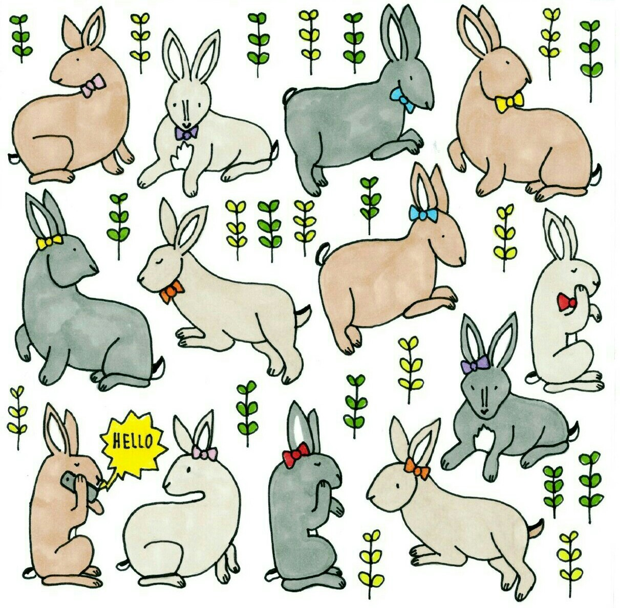Bunnies in Bows by Sophy Nixon 2017