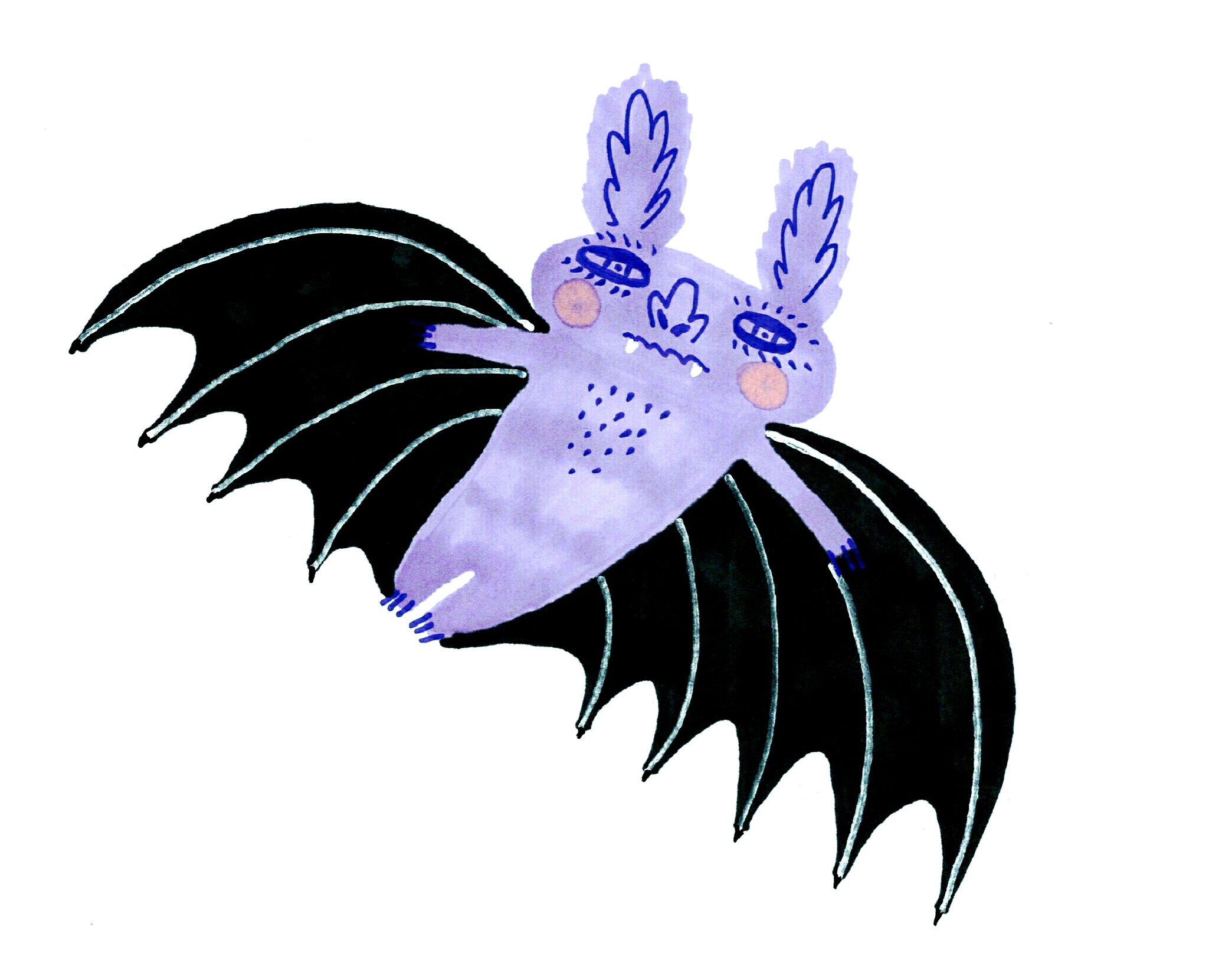 Purple Bat by Sophy Nixon 2017