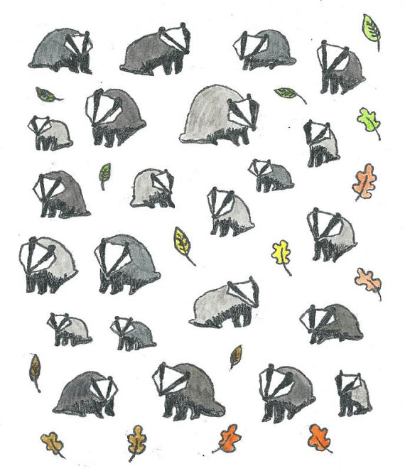 Badgers and Leaves by Sophy Nixon 2017